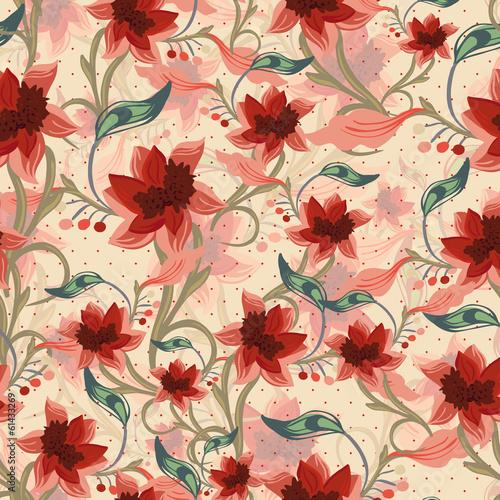 Vintage floral seamless background