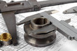 group of large and small calipers, Plumbing Fittings,