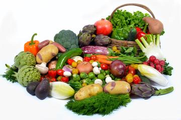 vegetables and basket