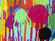 Detail Of Graffiti Paint