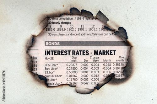 Fotografía  Interest rates - market