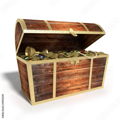 Fotografie, Obraz  3d illustration of a Treasure Chest