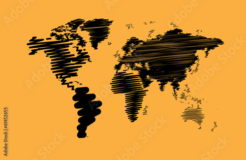 Fototapeta mapa artystyczna-mapa-swiata
