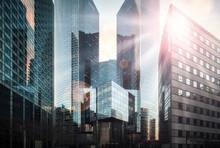 Bankenviertel Im Sonnenschein