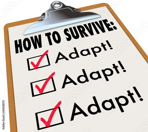 How to Survive Adapt Checklist Clipboard Advice Instructions Suc Canvas Print
