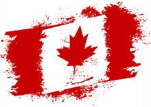 Canadian Grunge Flag