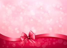 Holiday Pink Background With G...