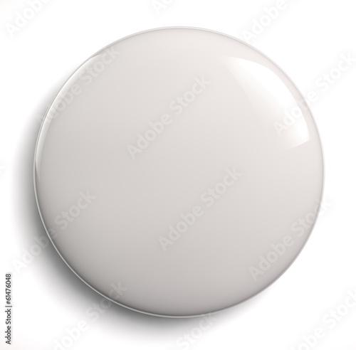 Staande foto Bol Blank badge button
