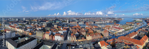 Photo  Large panorama of Copenhagen, Denmark
