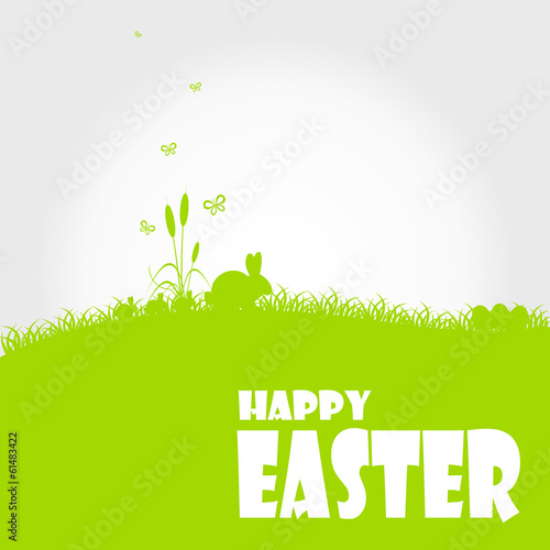 Foto op Canvas Lichtblauw Happy easter cards illustration