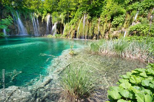 Foto op Plexiglas Groene Waterfalls Plitvice