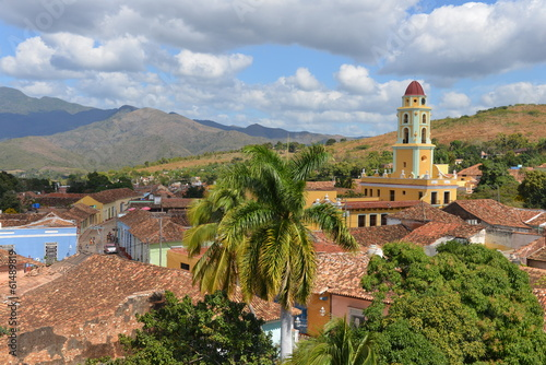 View over Trinidad in Cuba Poster