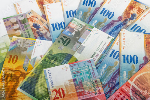 Swiss bank notes - 61490876