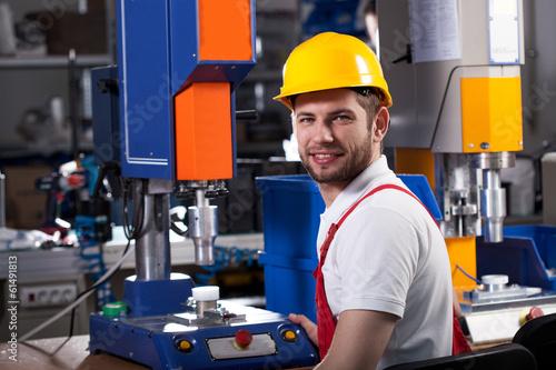 Fotografie, Obraz  Factory worker during work
