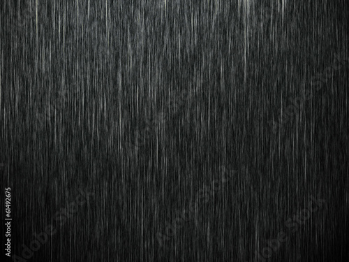 Photo  Rain on black. Abstract background