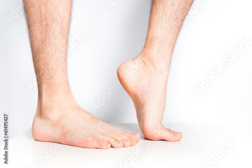 人間の裸足 Fototapeta