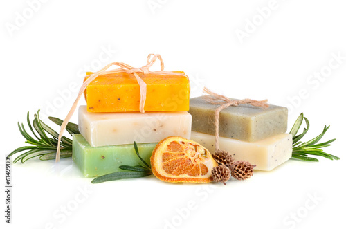 Fotografie, Obraz  Herbal soaps