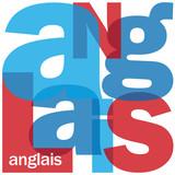 """Mosaïque de Lettres """"ANGLAIS"""" (langues traduction cours english)"""