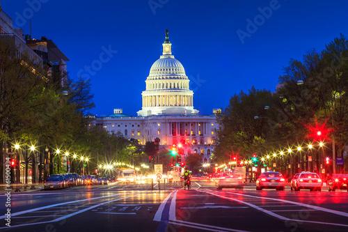 Fotografia, Obraz  Capitol building in Washington DC