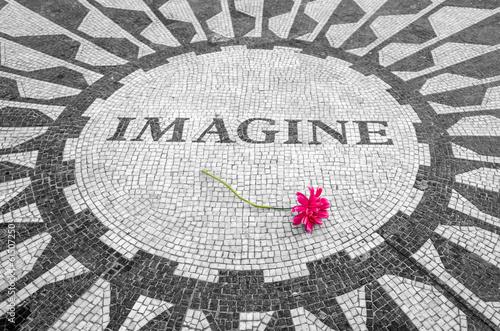 Imagine Sign in New York Central Park, John Lennon Memorial