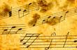 Musical notes close-up