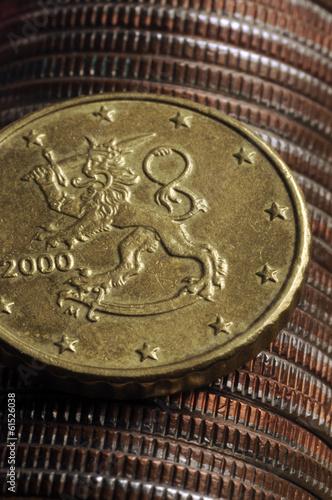 Fotografie, Obraz  Euro Finland Euroa Suomessa 芬兰欧元 اليورو فنلندا