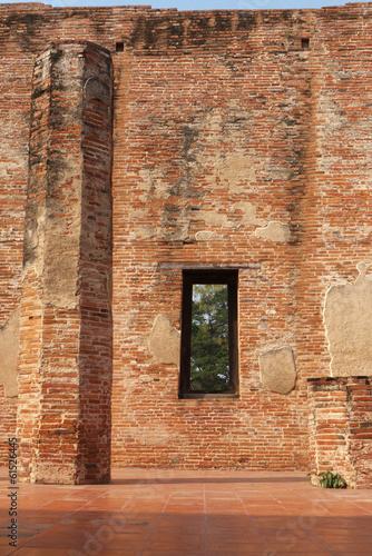 Foto op Aluminium Oude gebouw Ayuddhaya Thailand