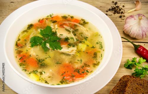 Fotografie, Obraz  Chiken soup.