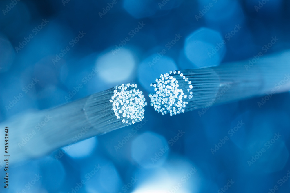 Fototapety, obrazy: Optic fiber cable connecting