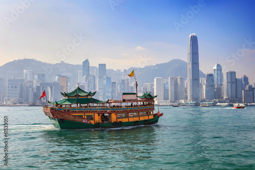 Wall Murals Hong-Kong Hong Kong city skyline view from Kowloon