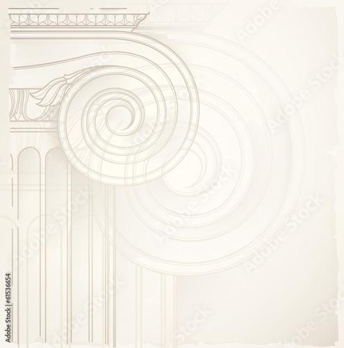 Fotografie, Obraz  architectural background , ionic column