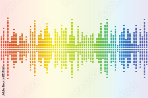Photo  Graphic equalizer color white background