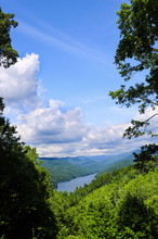 View Of Lake At Great Smoky Mountain National Park