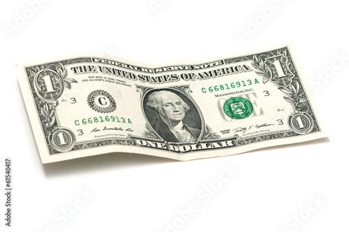 Fotografía crumpled one dollar