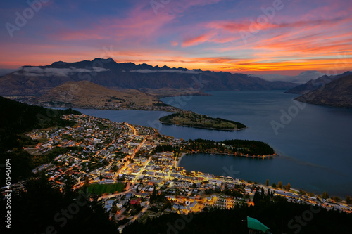 Photo  Quennstown city in New Zealand