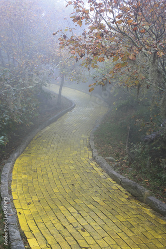 Yellow brick road Beech Mountain, North Carolina