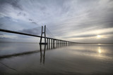 The Vasco da Gama Bridge is a famous landmark in Lisbo, Portugal