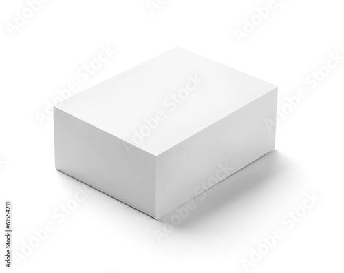white box container template blank package Fototapet