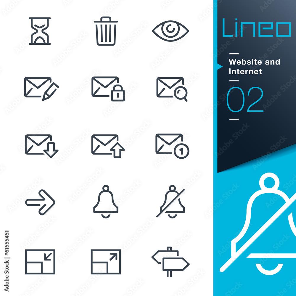 Fototapeta Lineo - Website and Internet outline icons