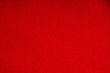 Closeup Of Red Fabric Textile ...