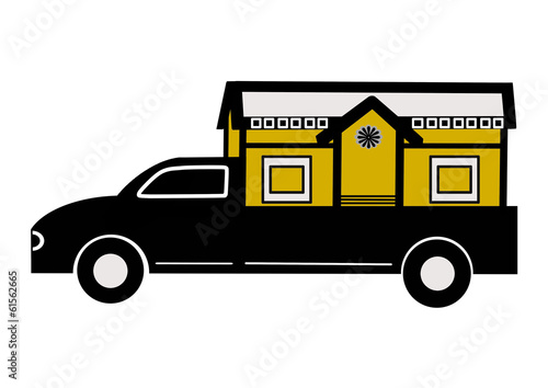 Fotografie, Obraz  宮型の霊柩車