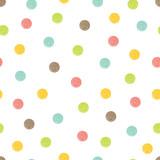 Polka dot. Cute seamless pattern.