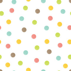 Naklejka Polka dot. Cute seamless pattern.