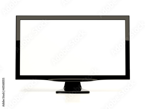 Fotografie, Obraz  Monitor isolated on white