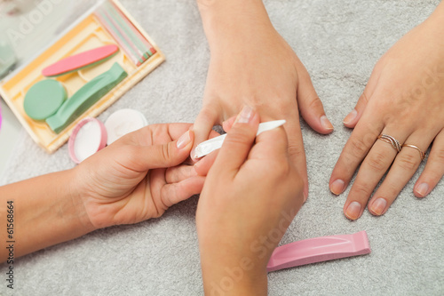 Spa salon. Japanese manicure.