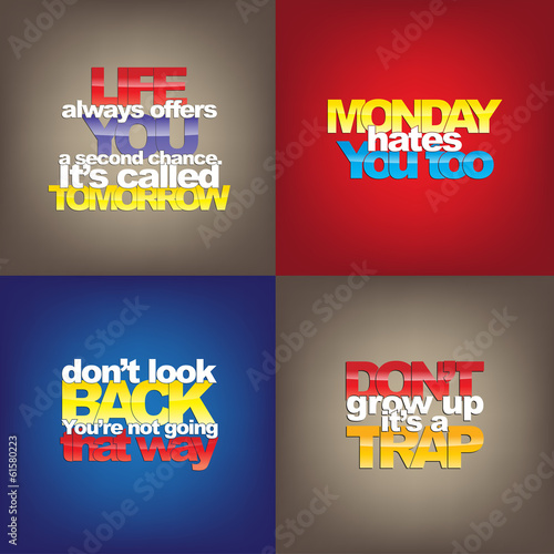 Foto  Set Of Motivational Quotes.