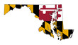 State of Maryland flag map