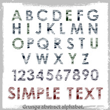 Grange Abstract Alphabet. Vect...