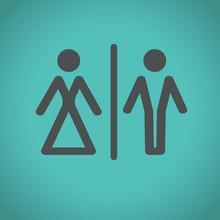 Toilet Icons, Vector Illustration