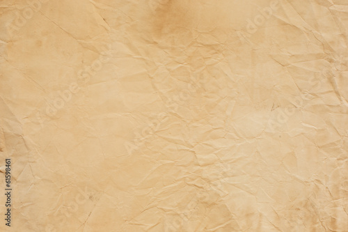 Fotografia, Obraz  old crumpled paper texture light brown